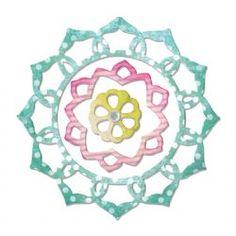 659128 Sizzix Thinlits Die Set 3PK - Frame Layers & Flower by Rachael Bright