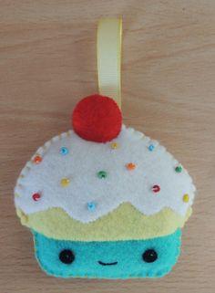Felt Cupcake Door Hanger by feltpastel on Etsy, £4.00