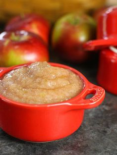 Naturally sweet, healthy, homemade applesauce is so easy to make! You only need 2 ingredients plus a little water to make this applesauce recipe.
