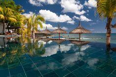 La piscine de l'hôtel Le Récif à l'île Maurice