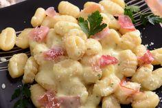 Gnocchi gorgonzola and prosciutto