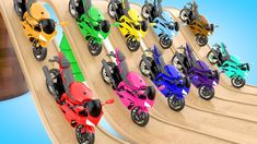 Learning Colors for Children with ColorBalls Sports Bikes Hot Wheels Tra...