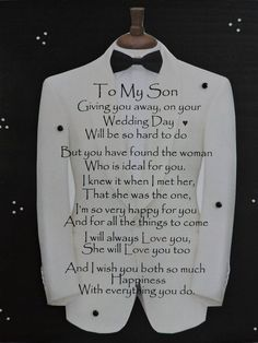 Engagement Gift for Son Son Wedding Gift Engagement Gift from Parents Engagement Gift for Him is part of Wedding day quotes - MonikasBoutique Mother Son Quotes, Son Quotes From Mom, My Children Quotes, Mom Quotes, Quotes For Kids, Sign Quotes, Great Quotes, Inspirational Quotes, Mother To Son