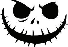 Jack Nightmare Before Christmas Pumpkin Template | jack_skellington Pumpkin Face Free Pumpkin Carving Template