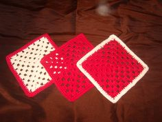 Crocheted dish cloths or trivets