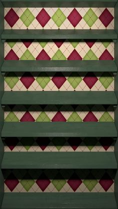 !!TAP AND GET THE FREE APP! Shelves Pattern Wooden Rhombus Green Geometric Homescreens HD iPhone 5 Wallpaper