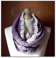 Ravelry: Charlotte Infinity Scarf pattern by ag handmades...all of her patterns are free today...