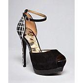 I LOVE THESE. On sale til 2/18 $133 Sam Edelman Platform Pumps - Paulette Ankle Strap Peep Toe