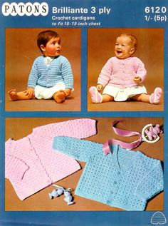 PDF 3ply Cardigans 2 styles 1819ins  Patons  6120  by 1vintagescot, $1.75