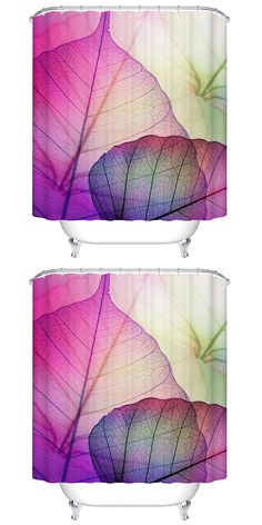 $14.89 Leave Venation Mildewproof Waterproof Bath Shower Curtain