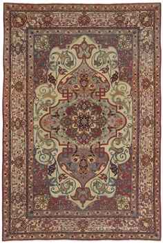 TEHRAN, North Central Persian 4ft 6in x 6ft 9in 3rd Quarter, 19th Century