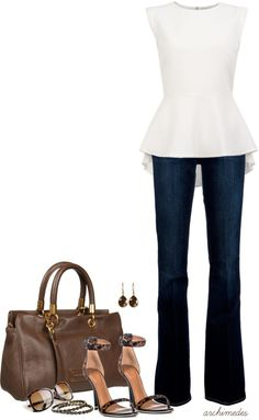 """Simple Peplum"" by archimedes16 on Polyvore"