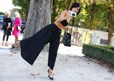 Christian Dior top, pants, bag, and shoes