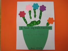 Handprint Flowerpot Craft .....This could be used for Creative Writing, too.