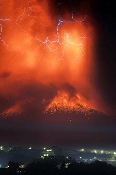 Volcan Calbuco, Chile. En alerta.