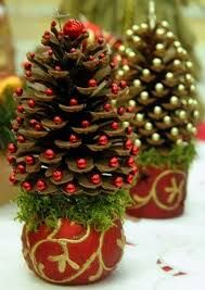 Image result for pinecone country christmas tree