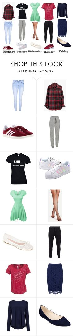 """Weekly outfits"" by allygagne ❤ liked on Polyvore featuring Glamorous, Madewell, adidas, Icebreaker, adidas Originals, LE3NO, Summit by White Mountain, MANGO, NIKE and Phase Eight"