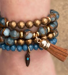 Denim Aegean Wash Bracelet Set- Tap the link now to see our super collection of accessories made just for you! Mens Gold Jewelry, Boho Jewelry, Beaded Jewelry, Jewelry Accessories, Jewelry Design, Fashion Jewelry, Unique Jewelry, Jewellery, Bohemian Bracelets