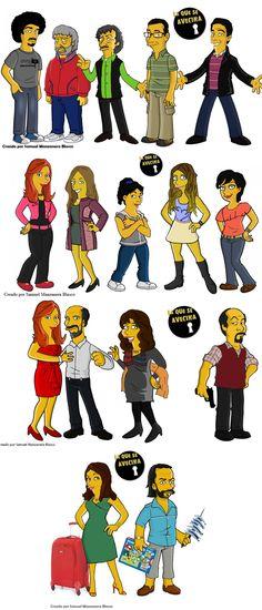 Personajes La que se avecina simpsonizados.