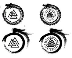 Valknut - could easily make this the centre of a Pec piece