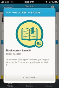 Gamification of Learning. You can earn points and badges in this library app for completing quests. Great for library orientation with high school students etc. Summer Reading Quest? SCVNGR app is a great example of how libraries are incorporating the idea of gamification in learning. - Megan