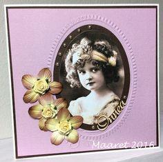 Onnea, vintagekuva kortti, vintagecard