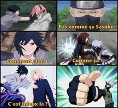 Nan ! Faut la tuer après ! :D (Surtout Sakura, Rin j'ai rien contre elle). Naruto Run, Naruto Teams, Sasuke X Naruto, Sakura And Sasuke, Otaku Anime, Manga Anime, Hinata, Akatsuki Cosplay, Rage