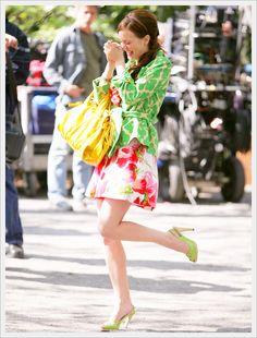 Nobody does clashing prints quite like Blair Waldorf!