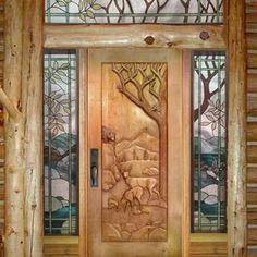 Merveilleux Custom Carved Deer Door Custom Made By Ramsey Studios