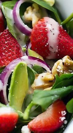 Strawberry Avocado Spinach Salad