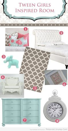 Tween Girls Bedroom Inspiration!! Coral & Turquoise By Ellie Bean Design Blog   Pinterest - Urump.Com