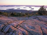 Grooves in the Granite on Summit of Cadillac Mountain, Acadia National Park, Maine, USA Photographic Print by Jerry & Marcy Monkman