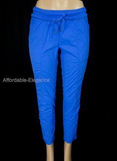 LULULEMON Carry Less Pants 4 S Small Blue Pinstripe Rare Metal Tag ...