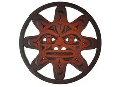 Trivet in Recycled Glass - Moon Mask