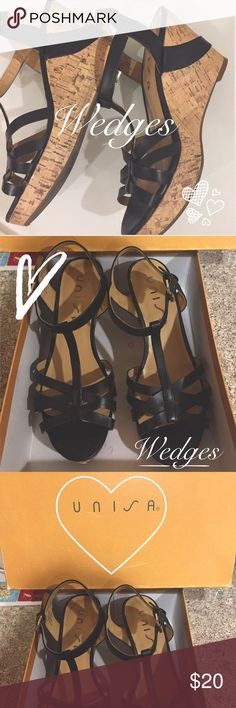 Unisa Wedges Absolutely gorgeous and comfortable (only used one). Kept in perfect condition. Definitely can be used for formal occasions or even casual ones. Shoes you need to add to your closet! Unisa Shoes Wedges