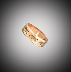 14k Victorian band with stamped design size 3 1/2 by SearchEndsHere on Etsy