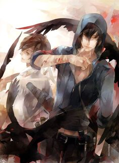 Nymestal and his brother Anime Chibi, Manga Anime, Anime Art, Anime Demon Boy, Naruto Characters, Hot Anime Guys, Boy Art, Environmental Art, Chinese Art