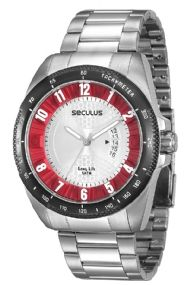 28608GPSVCA2 Relógio Masculino Seculus Long Life