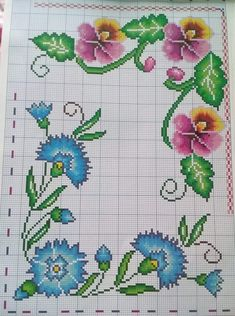 Cross Stitch, Lily, Embroidery, Crochet, Cross Stitch Borders, Cross Stitch Flowers, Hand Embroidery Flowers, Embroidered Cushions, Cross Stitch Kits