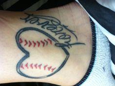 Bestfriend tattoo. Softball love.
