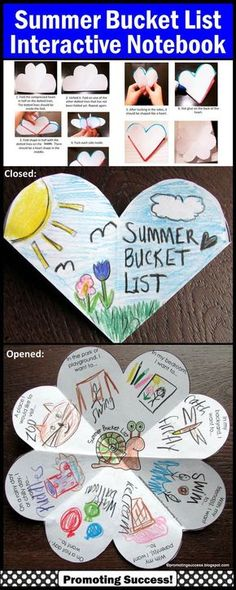Summer Bucket List - End of the School Year Activity: In this packet, your students will be drawing or writing about their summer bucket list. The are seven variations of the ONE template, including open-ended options to meet the individual needs of all your students. This summer bucket list craft activity works well year after year for multiple grade levels due to the different templates and writing or drawing options! www.teacherspayte...... #SummerBucketList