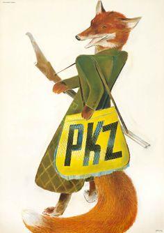 Alois Carigiet Poster: PKZ (fox)
