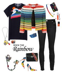 I think we've found the rainbow connection! by riquee on Polyvore featuring Rochas, Sonia Rykiel, 3x1, Valentino, Tatty Devine, Wendy Yue, Gemma Redux, Moschino, Bottega Veneta and Urban Decay