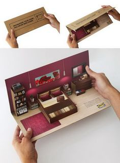 Ikea Flat Pack Direct Mailer - Cool 3D Pop Up Brochure Design Ideas, http://hative.com/3d-pop-up-brochure-design-ideas/,