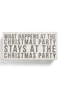 'Christmas Party' Box Sign