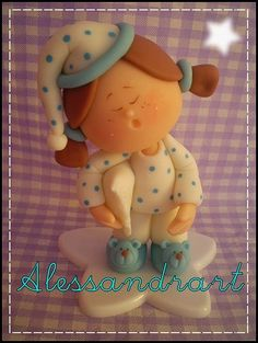 Little girl in pj's porcelana fria polymer clay