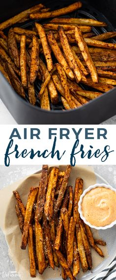 Learn how to make the BEST super crispy air fryer french fries in under 20 minutes! Air fryer french fries are so delicious and simple to make. Plus, they taste Air Fry French Fries, Making French Fries, Crispy French Fries, French Fries Recipe, Best French Fries, Air Fryer Oven Recipes, Air Frier Recipes, Air Fryer Dinner Recipes, Homemade Fries