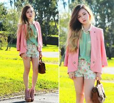 100% on summer. I'm all pastels and florals. Love this look by Chloe! She looks really pretty and sweet!