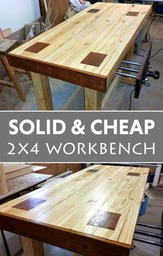 and Cheap Workbench Attractive workbench on the cheap.Attractive workbench on the cheap.Solid and Cheap Workbench Attractive workbench on the cheap.Attractive workbench on the cheap. Woodworking Bench Plans, Wood Plans, Woodworking Furniture, Fine Woodworking, Woodworking Classes, Woodworking Equipment, Cardboard Furniture, Kid Furniture, Woodworking Garage