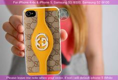gucci yellow leather trim - iPhone 4 / iPhone 4S / iPhone 5 / Samsung S2 / Samsung S3 / Samsung S4 Case Cover